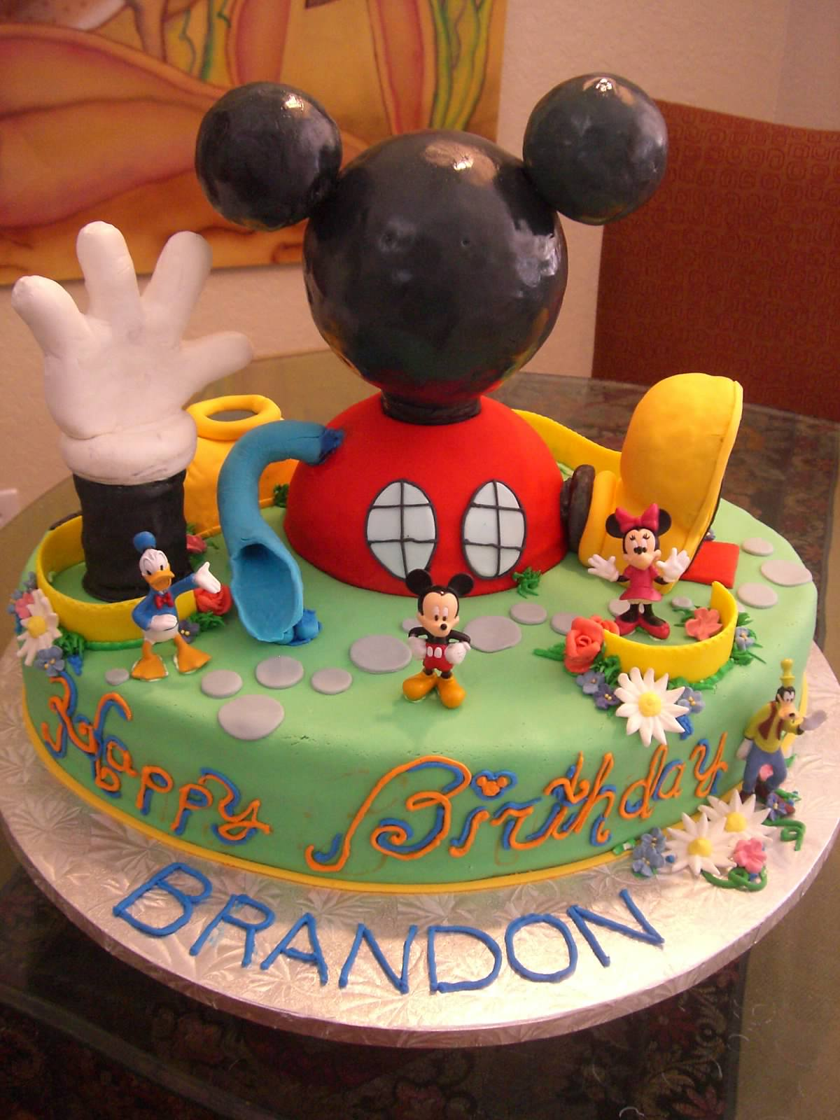 Strange Mickey Mouse Cake Decoration Ideas Little Birthday Cakes Personalised Birthday Cards Veneteletsinfo