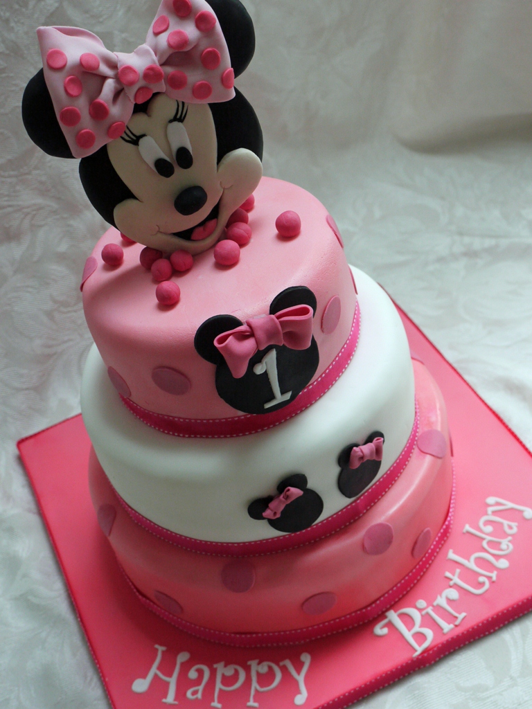 Minnie Mouse First Birthday Cakes