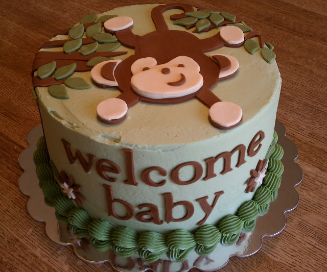 Monkey Baby Shower Cakes