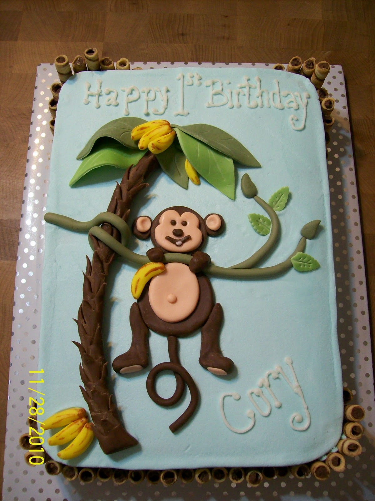 Excellent Monkey Cakes Decoration Ideas Little Birthday Cakes Personalised Birthday Cards Paralily Jamesorg