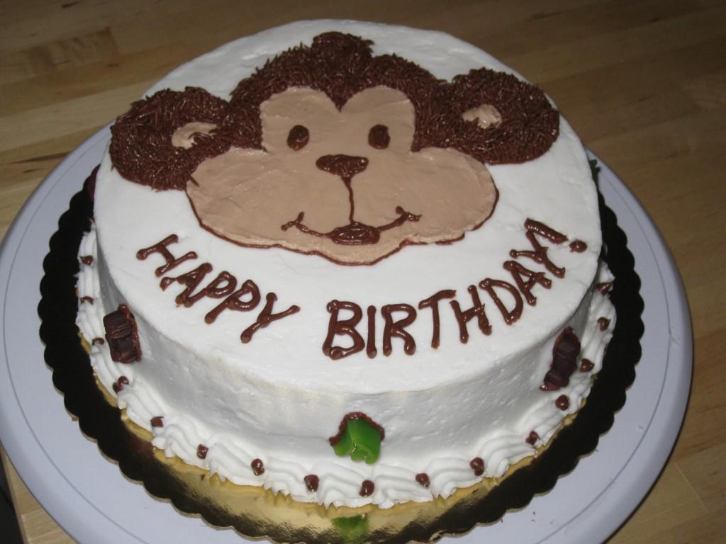 Monkey Design Cakes