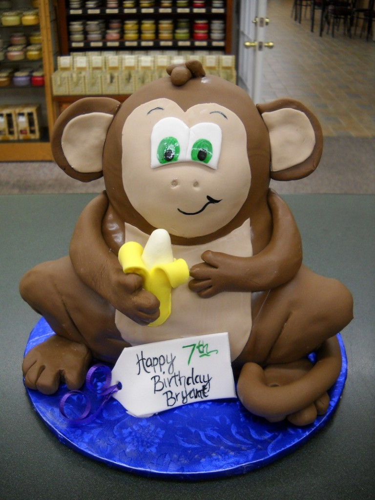Monkey Shaped Cake