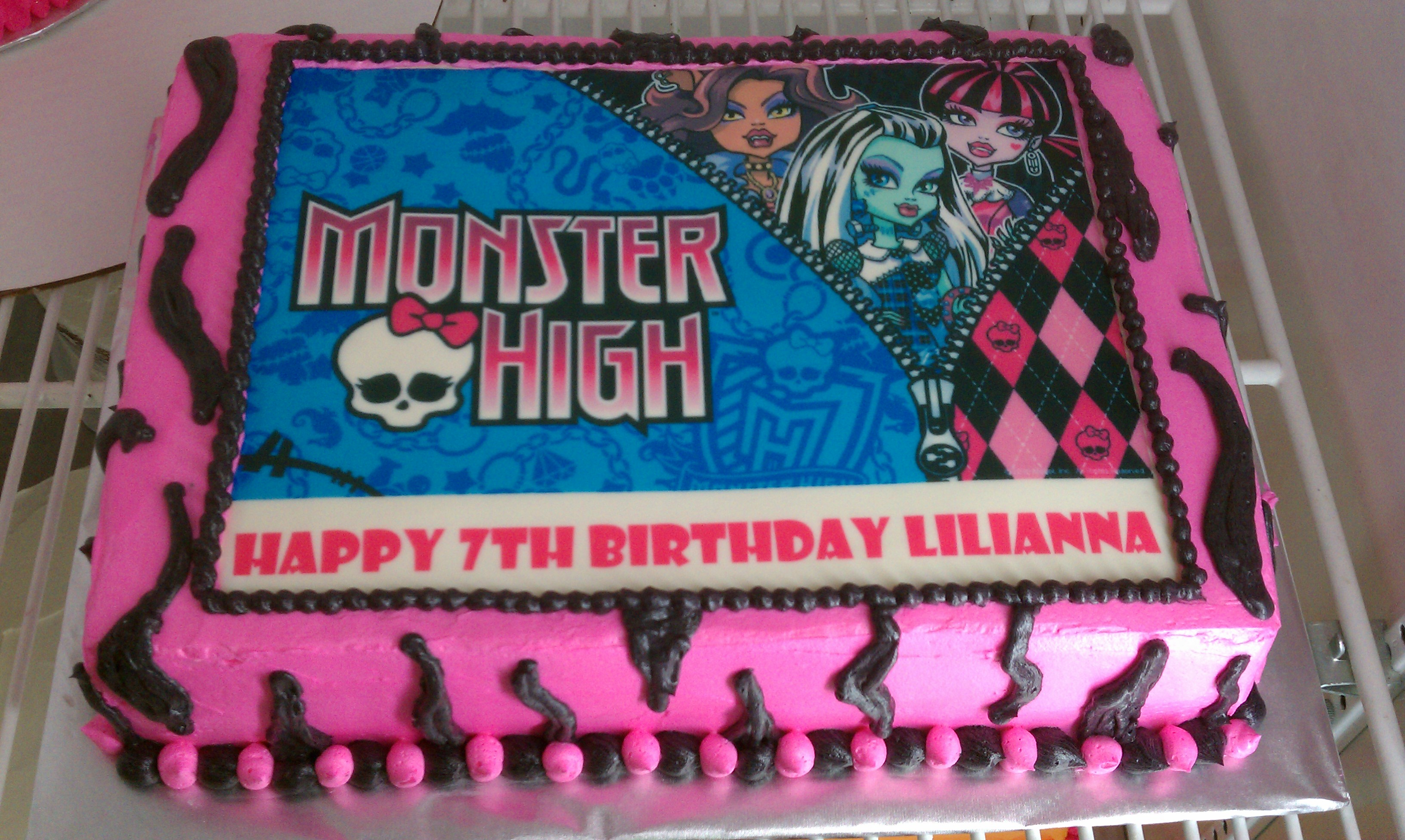 Fine Monster High Cakes Decoration Ideas Little Birthday Cakes Funny Birthday Cards Online Fluifree Goldxyz