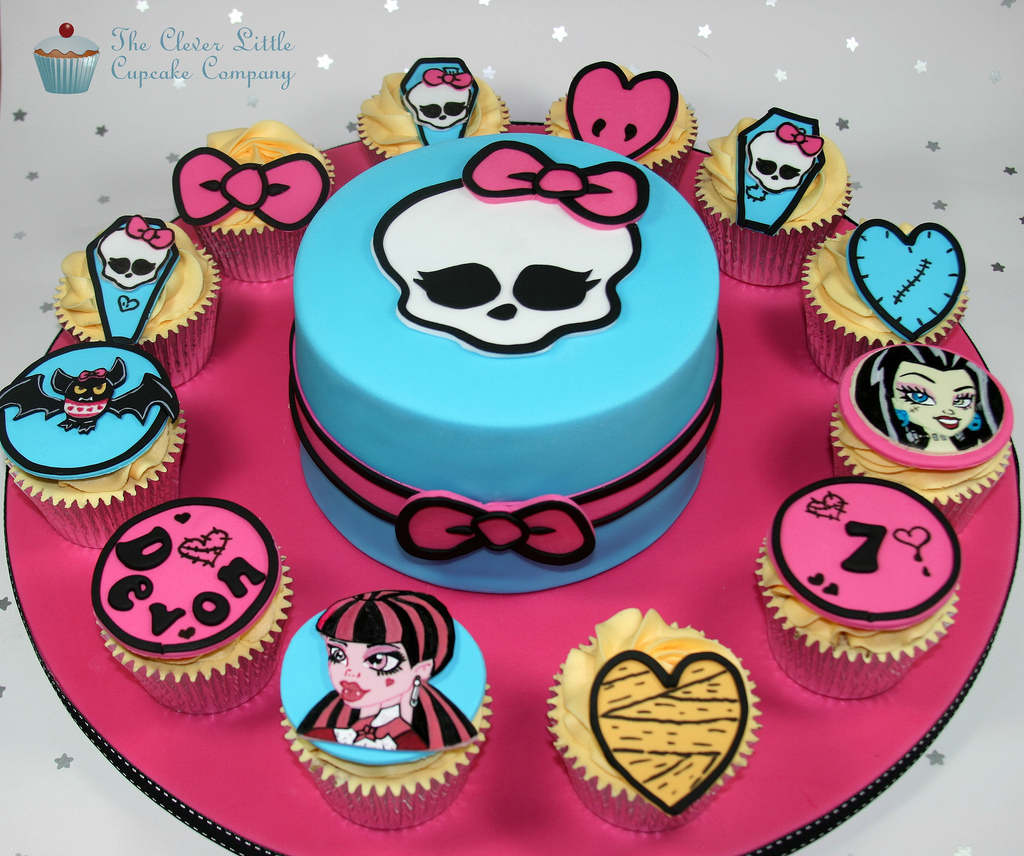 Monster High Cakes and Cupcakes