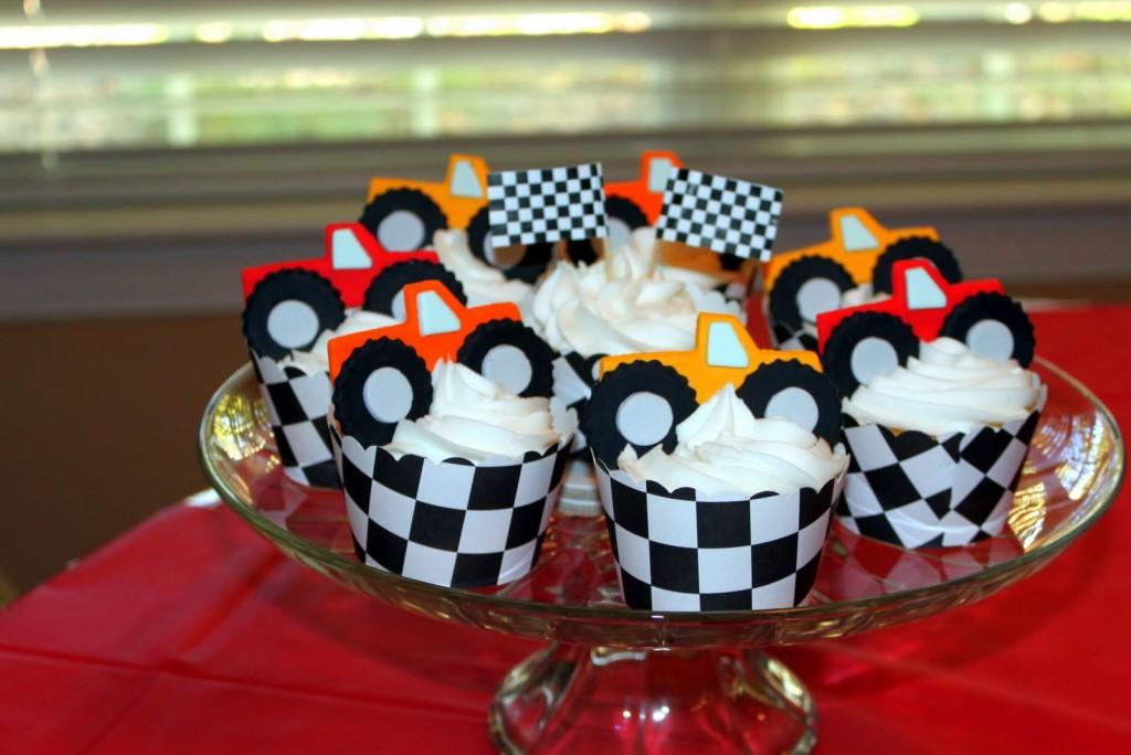 Monster Truck Cupcake Cake