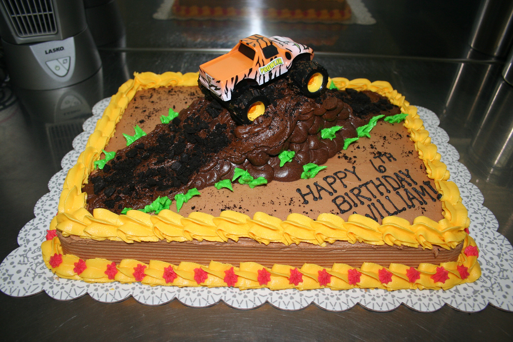 Monster Trucks Cake Images