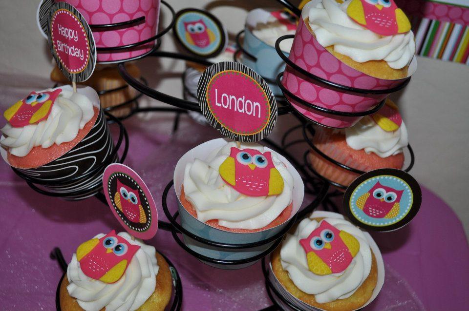 Owl Cupcake Cakes