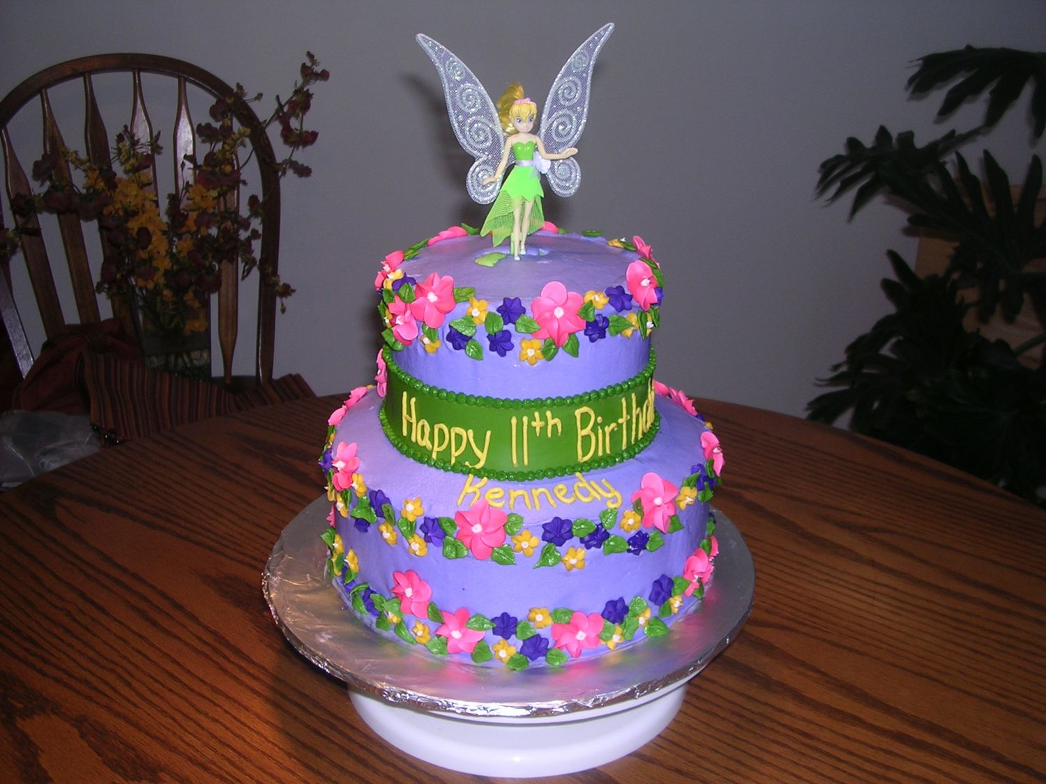 Enjoyable Tinkerbell Cakes Decoration Ideas Little Birthday Cakes Personalised Birthday Cards Sponlily Jamesorg