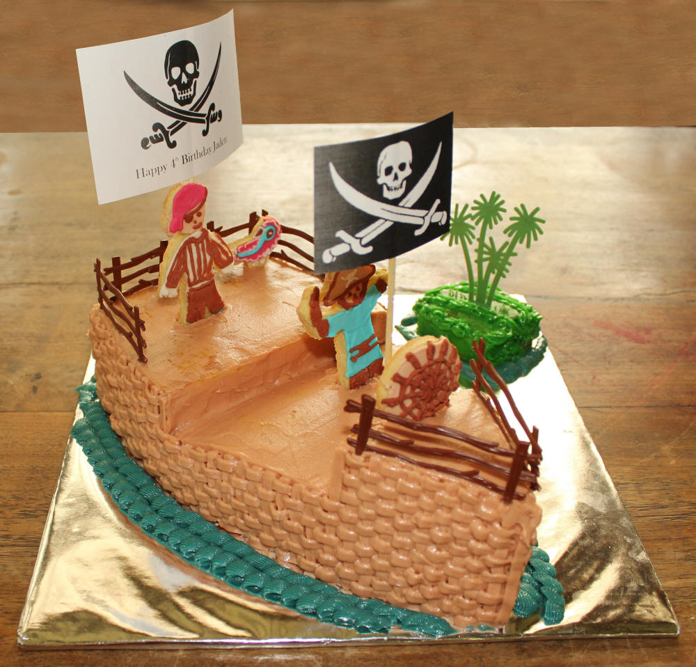 Pirate Birthday Party Cake