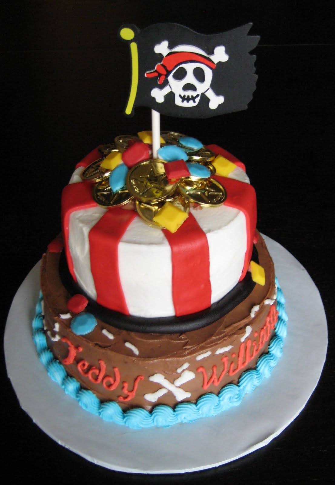 Wondrous Pirate Cakes Decoration Ideas Little Birthday Cakes Funny Birthday Cards Online Alyptdamsfinfo