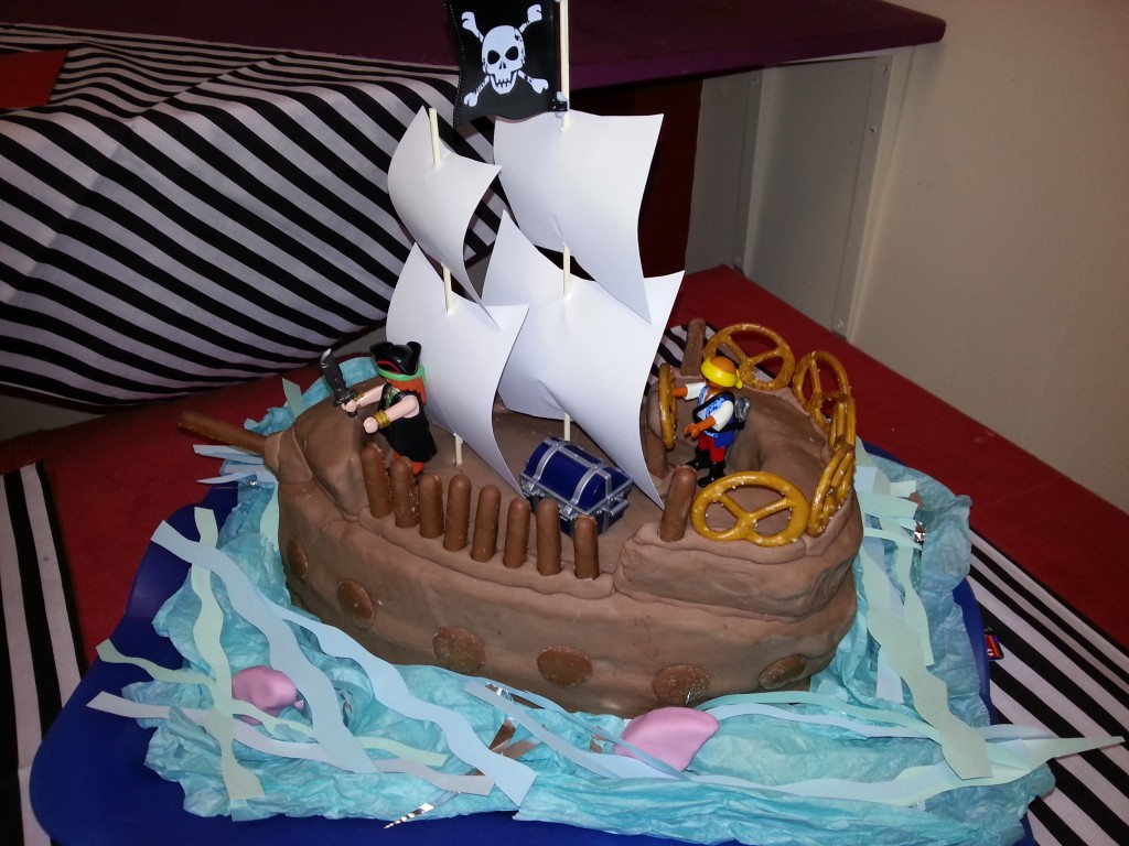 Pirate Ship Birthday Cakes