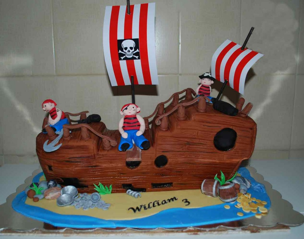 Pirate Ship Birthday Cakes For Kids