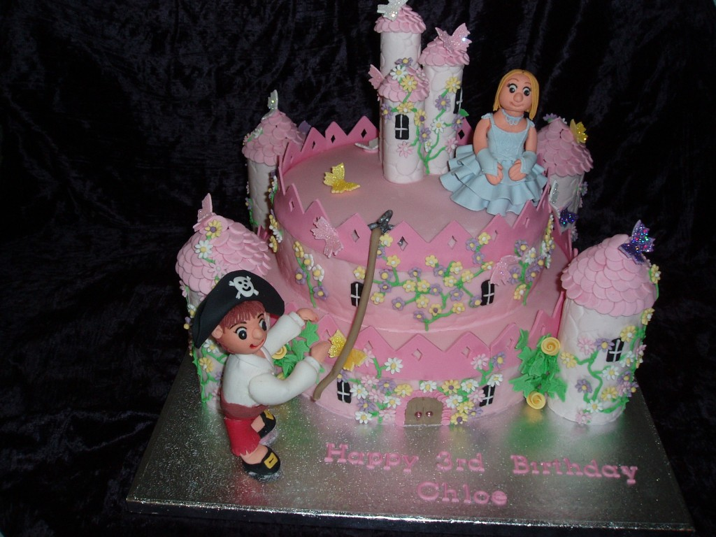 Princess and Pirate Cake