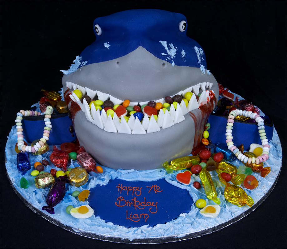 Fine Shark Cakes Decoration Ideas Little Birthday Cakes Funny Birthday Cards Online Fluifree Goldxyz
