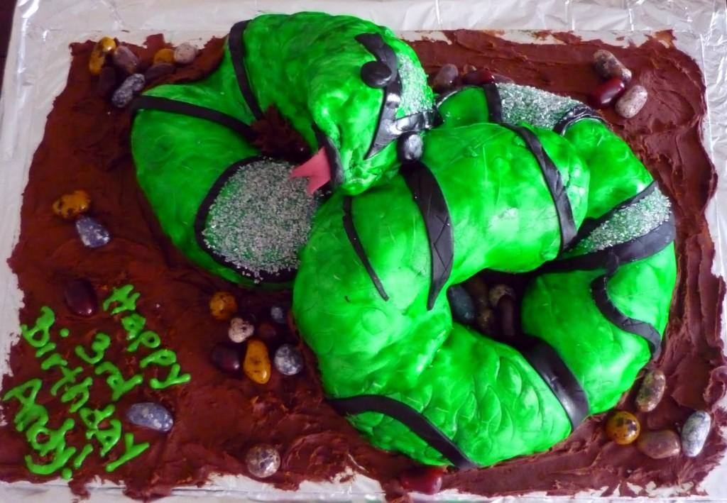 Snake Shaped Cake