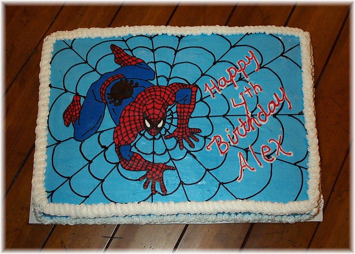 этого картинки на торт человек паук прямоугольные всем