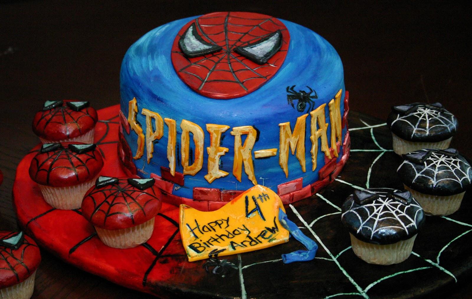 Stupendous Spiderman Cakes Decoration Ideas Little Birthday Cakes Funny Birthday Cards Online Unhofree Goldxyz