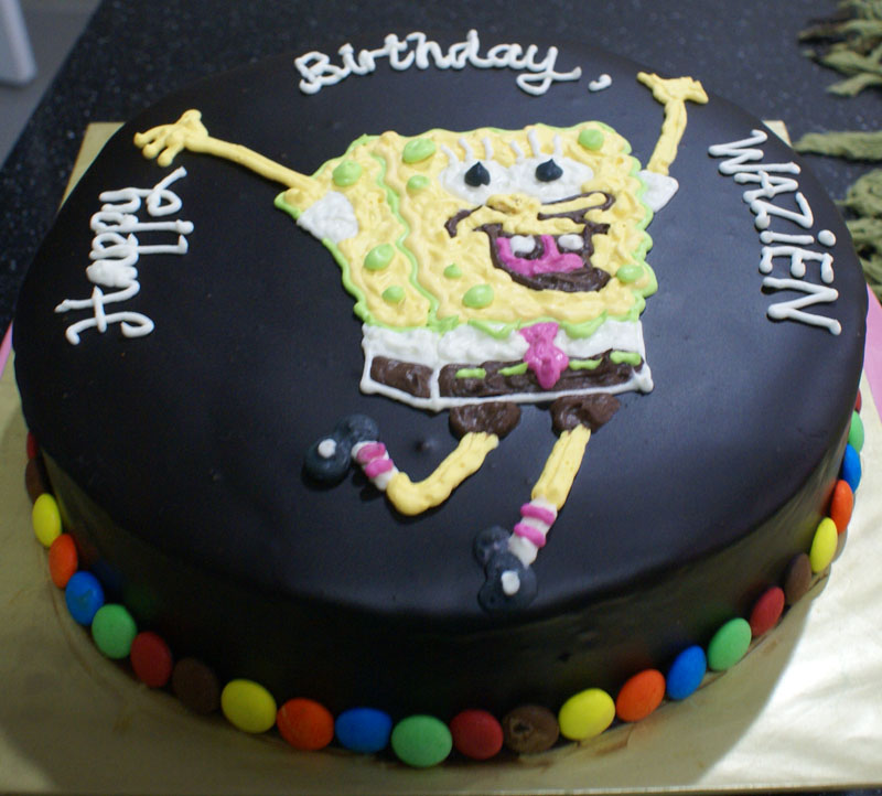 Superb Spongebob Cakes Decoration Ideas Little Birthday Cakes Funny Birthday Cards Online Barepcheapnameinfo