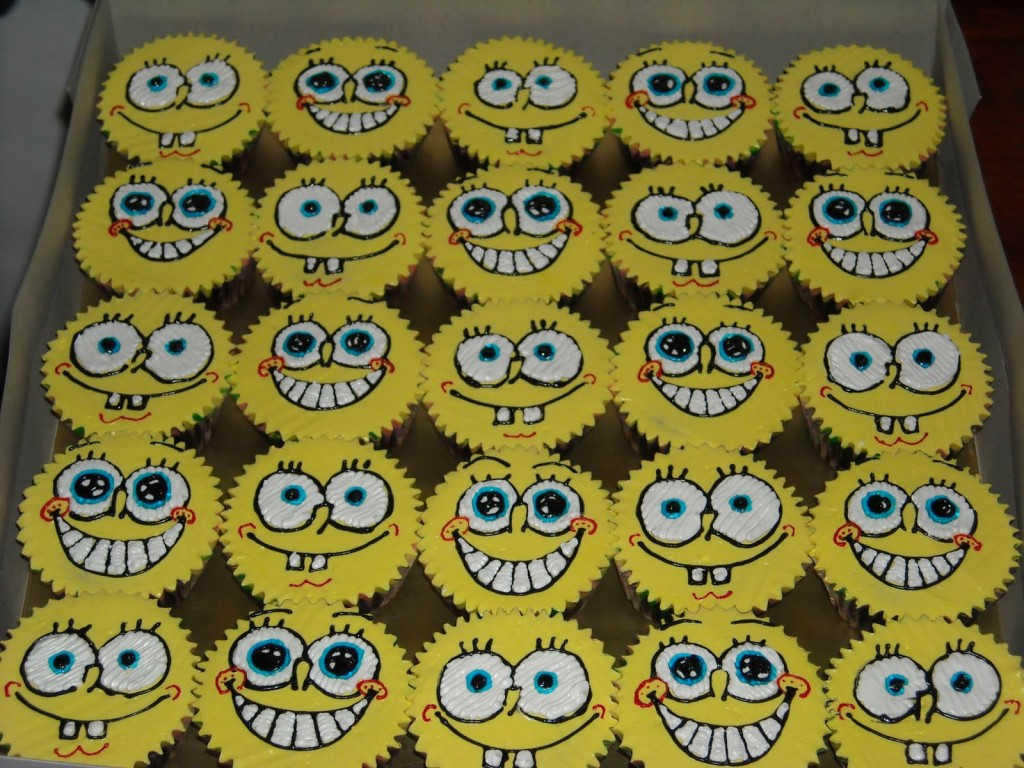 Spongebob Cupcake Cake