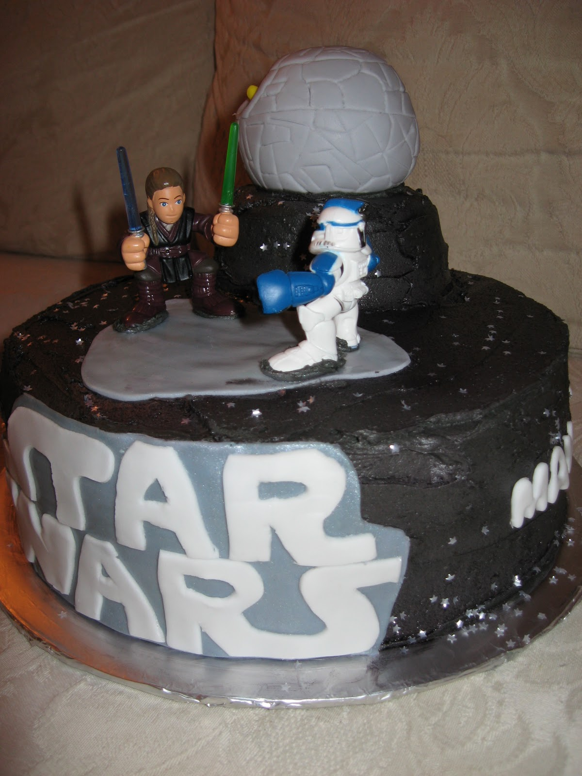 Terrific Star Wars Cakes Decoration Ideas Little Birthday Cakes Funny Birthday Cards Online Overcheapnameinfo