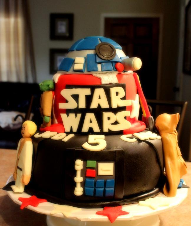 Star Wars Lego Birthday Cake