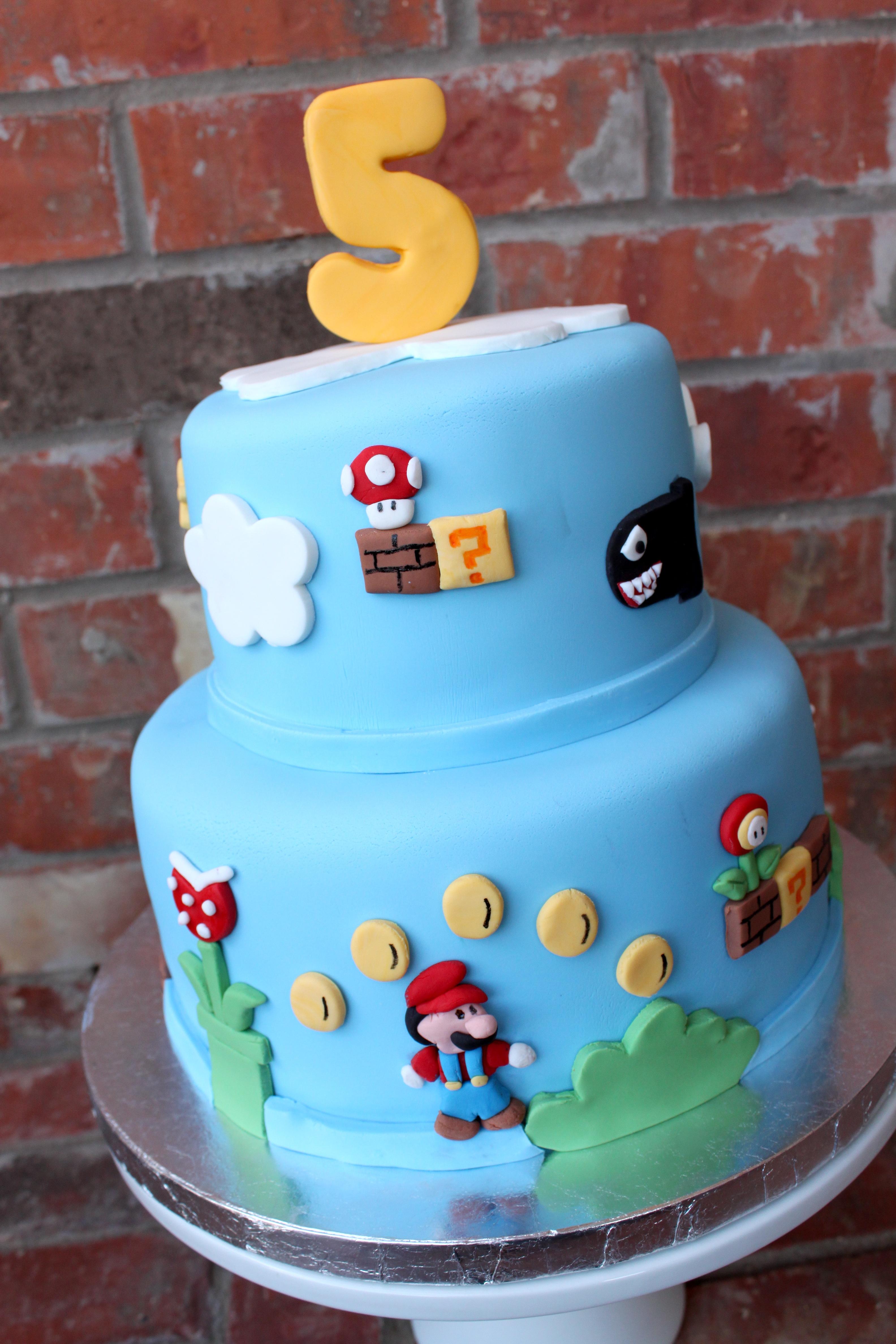Remarkable Mario Cakes Decoration Ideas Little Birthday Cakes Personalised Birthday Cards Veneteletsinfo