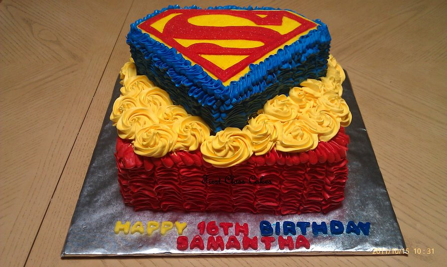 Superman Birthday Cakes Pictures