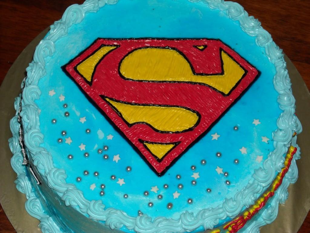 Superman Logo Cakes