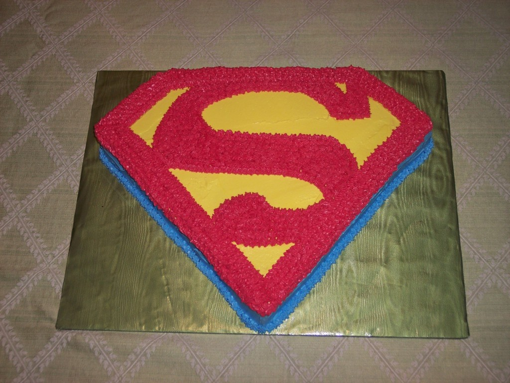 Superman Logo Cakes Design