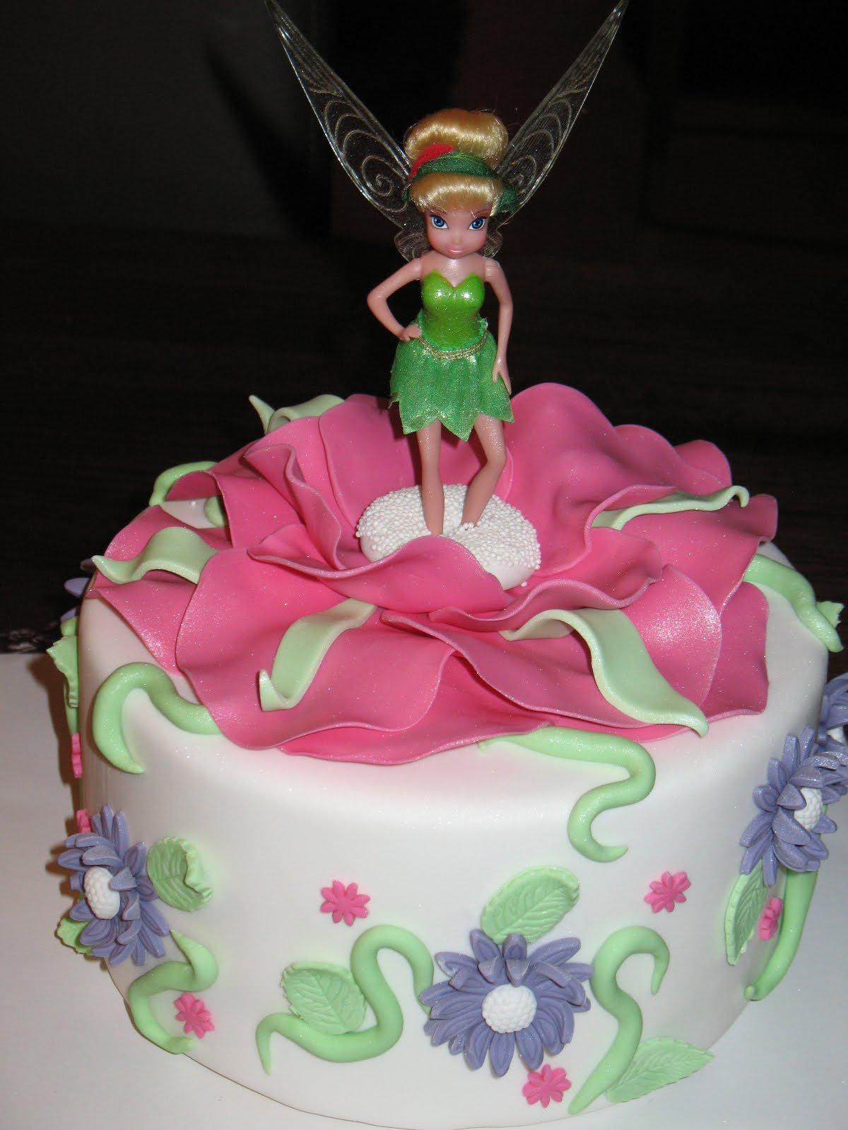 Groovy Tinkerbell Cakes Decoration Ideas Little Birthday Cakes Funny Birthday Cards Online Alyptdamsfinfo
