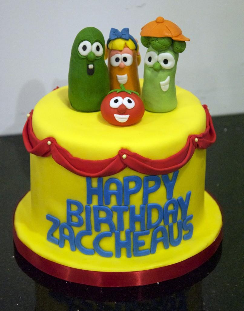 Veggie Tales Cake Design