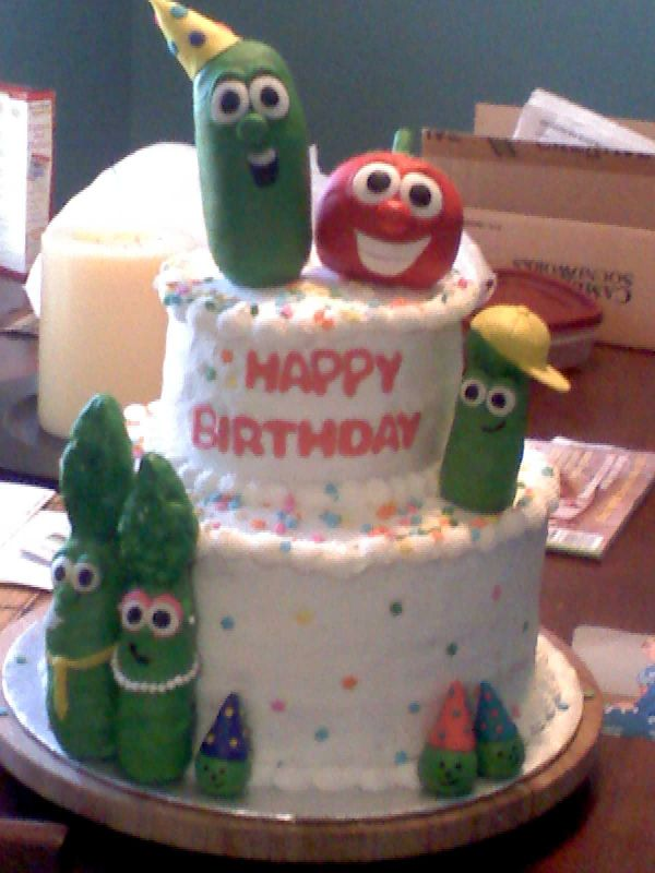 Veggie Tales Cake Images