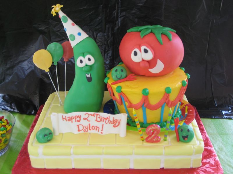 Veggie Tales Cake Toppers