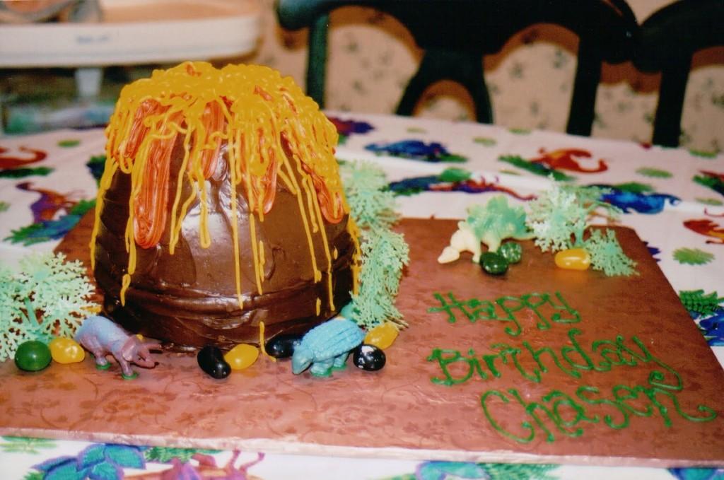 Volcano Birthday Cake Images