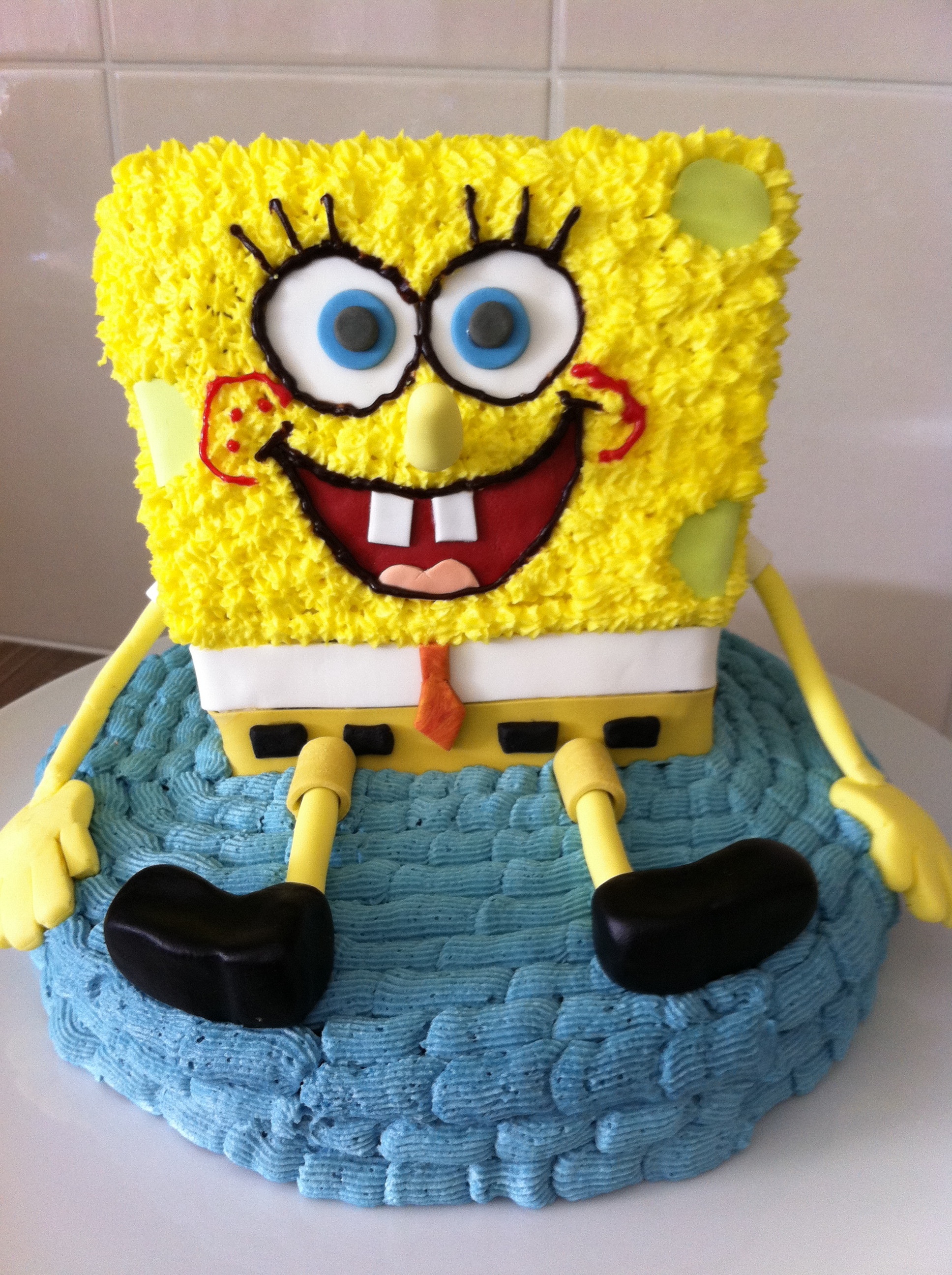 Stupendous Spongebob Cakes Decoration Ideas Little Birthday Cakes Personalised Birthday Cards Bromeletsinfo