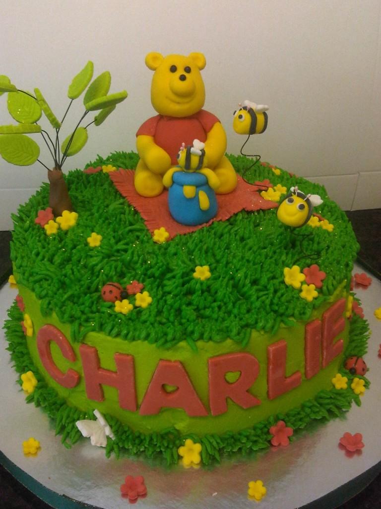 Winnie The Pooh Diaper Cakes