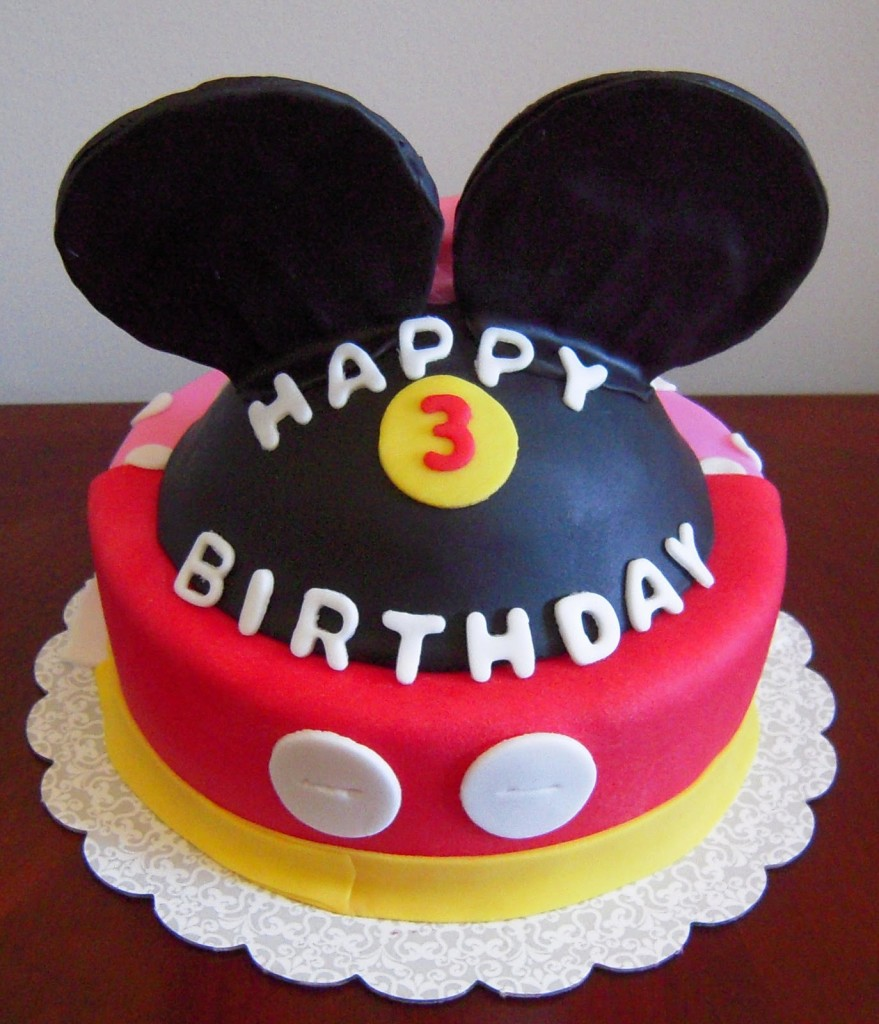 mickey Mouse Head Cake