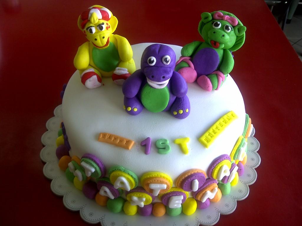 Barney Cake Topper