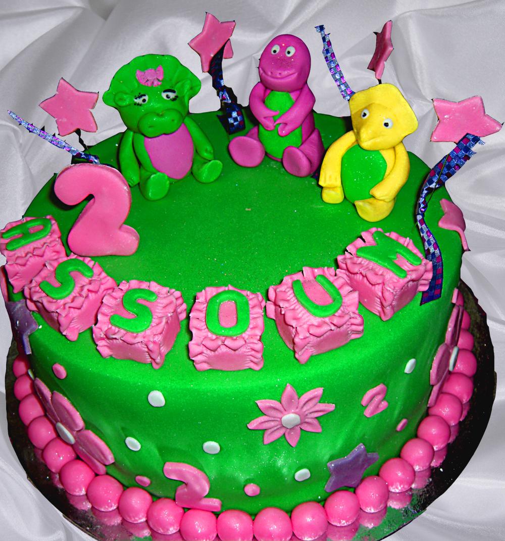 Superb Barney Cakes Decoration Ideas Little Birthday Cakes Personalised Birthday Cards Xaembasilily Jamesorg