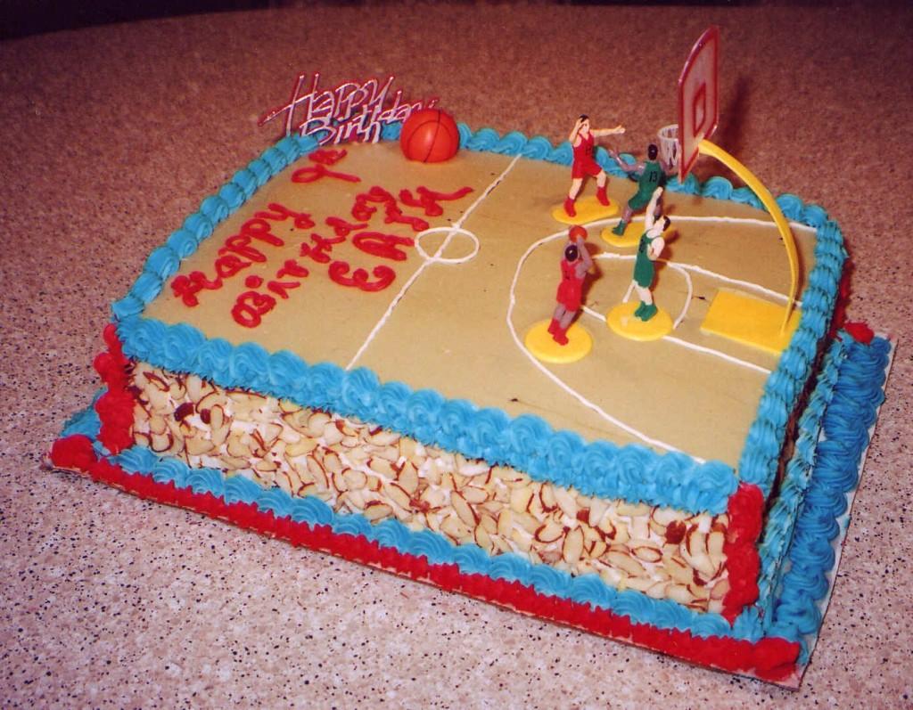 Basketball Court Cakes