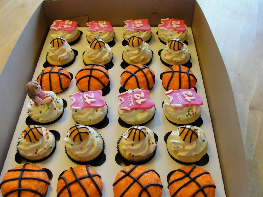Basketball Cupcake Cake