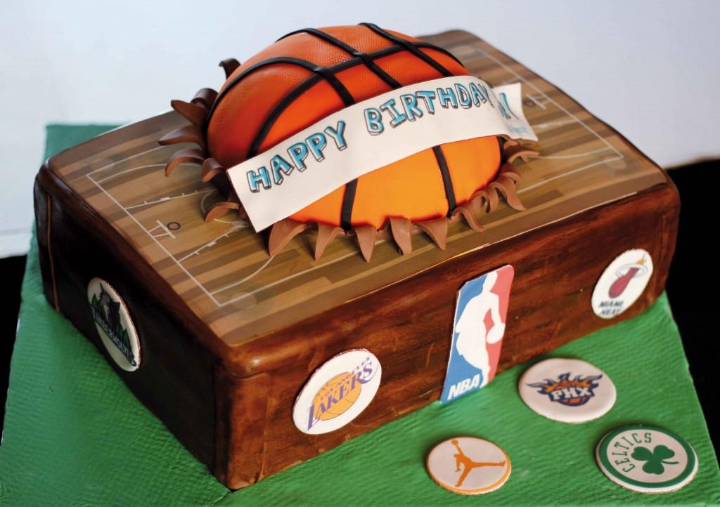 Basketball Fondant Cake