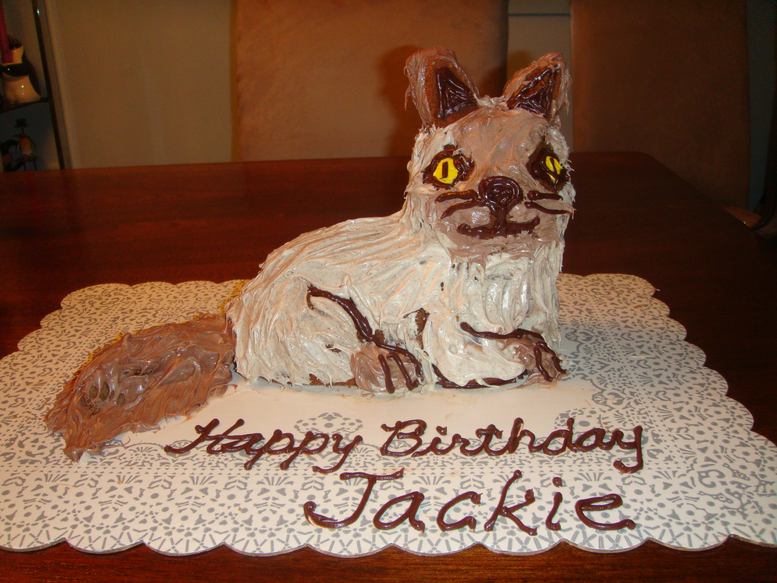 Astounding Cat Cakes Decoration Ideas Little Birthday Cakes Personalised Birthday Cards Arneslily Jamesorg