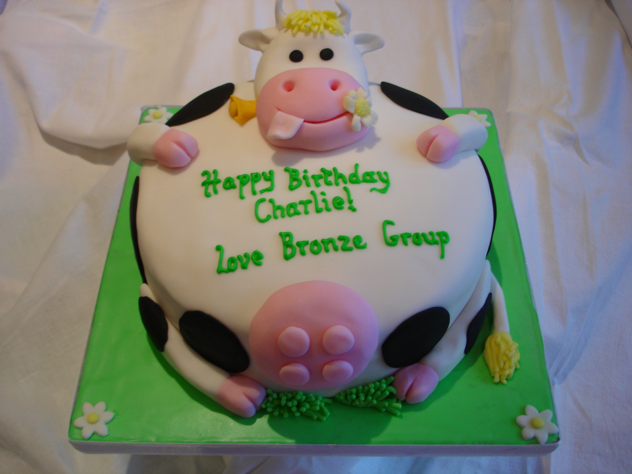 Cow Cakes Decoration Ideas Little Birthday