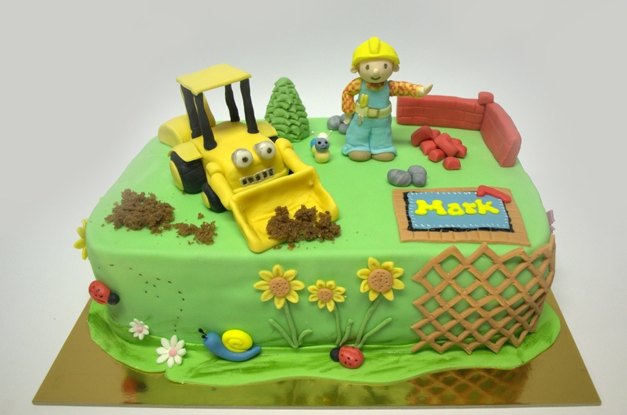 Stupendous Bob The Builder Cakes Decoration Ideas Little Birthday Cakes Funny Birthday Cards Online Elaedamsfinfo