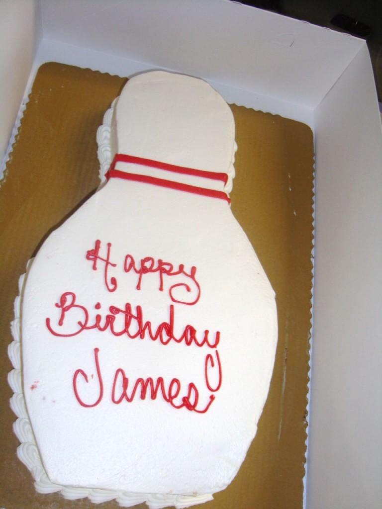 Bowling Pin Cake