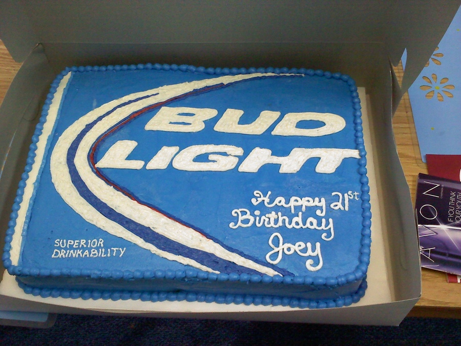 Amazing Bud Light Cakes Decoration Ideas Little Birthday Cakes Personalised Birthday Cards Cominlily Jamesorg