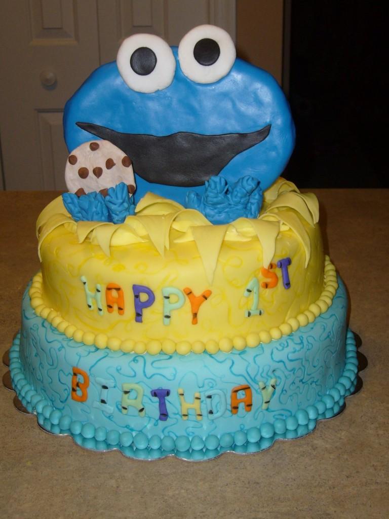 Cookie Monster Birthday Cake Ideas