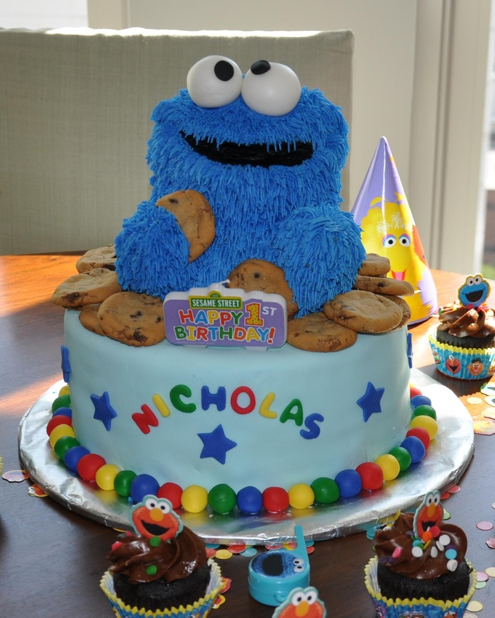 Stupendous Cookie Monster Cakes Decoration Ideas Little Birthday Cakes Personalised Birthday Cards Petedlily Jamesorg