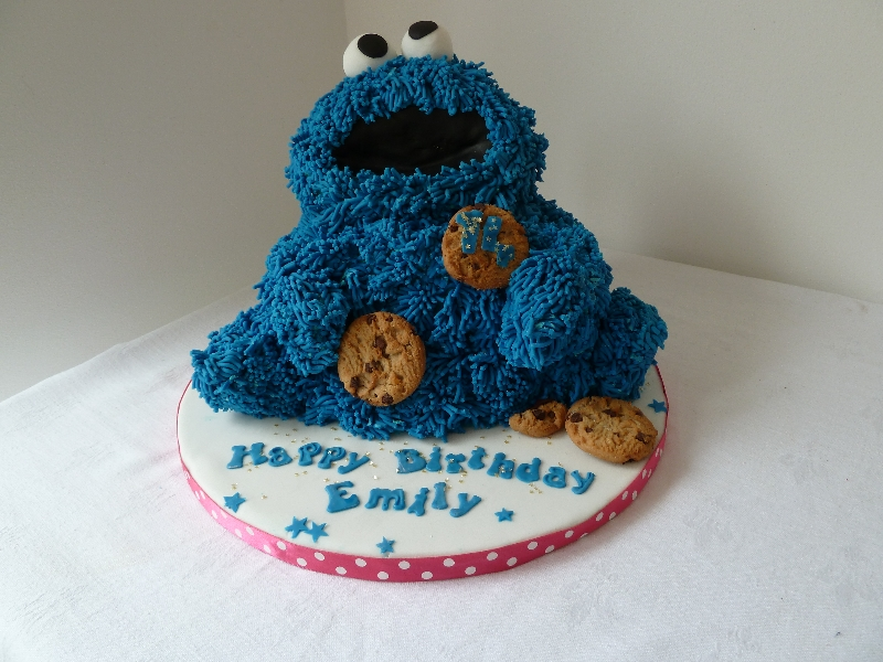Prime Cookie Monster Cakes Decoration Ideas Little Birthday Cakes Funny Birthday Cards Online Sheoxdamsfinfo